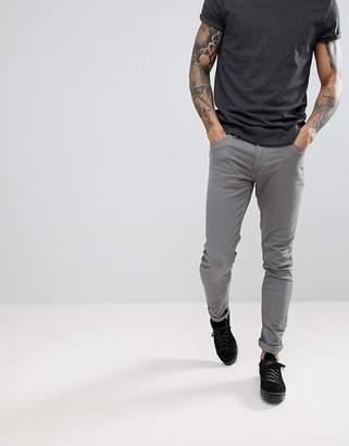 Farah Drake Twill Slim Fit Pants in Mid Gray