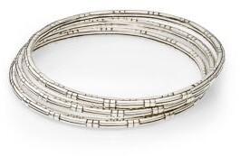John Hardy Bedeg Sterling Silver Slim Bracelet Set
