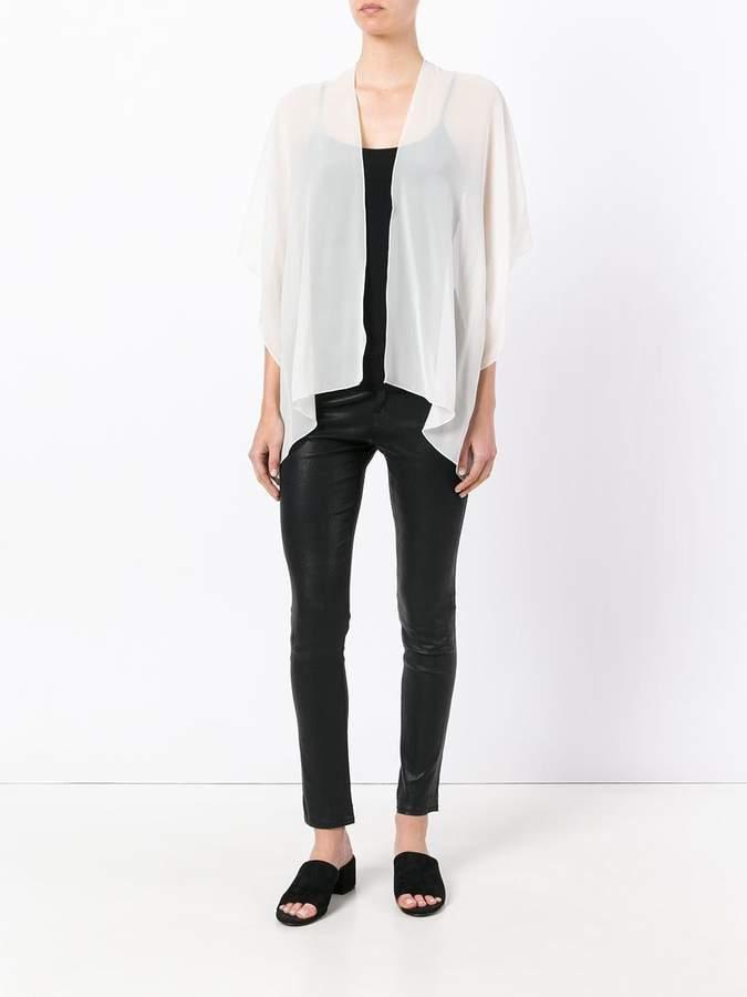 D-Exterior D.Exterior sheer open blouse