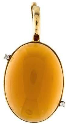 Faraone Mennella 18K Citrine & Diamond Pendant