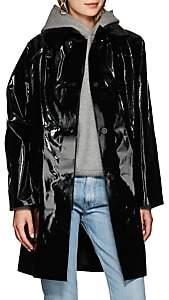 KASSL Women's Lacquered Cotton-Blend Trench Coat - Lacquer Black