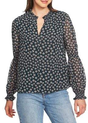 1 STATE 1.STATE Ditsy Attire Blouse