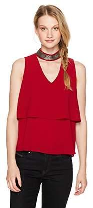 XOXO Women's Embellished Sleeveless Gig Neckline Top