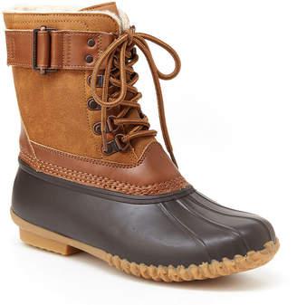 Jambu J Sport By Womens Ontario Rain Boots Water Resistant Flat Heel Lace-up