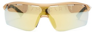 Stella McCartney Turbo Reflective Lens Sunglasses - Womens - Gold