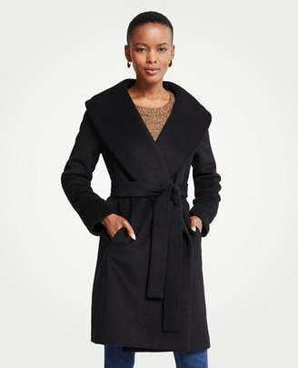 Ann Taylor Petite Shawl Collar Wrap Coat