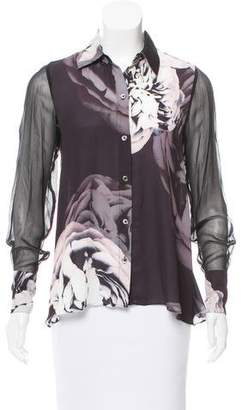 Ramy Brook Silk Button-Up Top