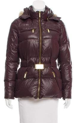 MICHAEL Michael Kors Fur-Trimmed Down Jacket