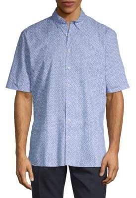 Bugatchi Paisley Cotton Short-Sleeve Shirt
