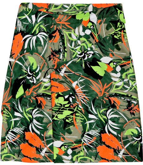 Vanessa Bruno Printed stretch cotton-blend skirt