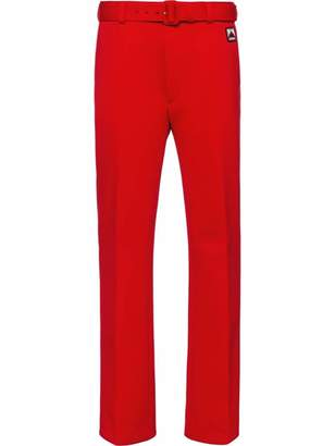 Prada Technical jersey trousers
