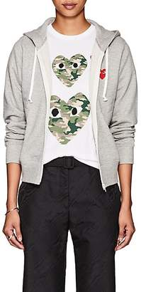 Comme des Garcons Women's Heart Cotton Terry Hoodie - Gray