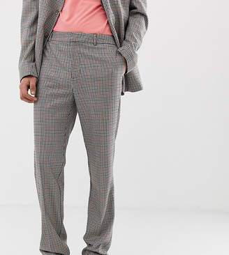 Collusion COLLUSION Tall suit pant in brown check