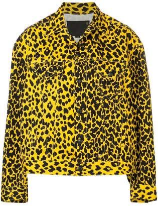 R 13 oversized leopard print jacket