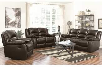Abbyson Living 3 Piece Leather Living Room Set