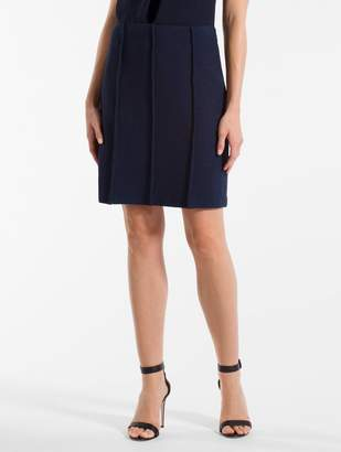 St. John Ana Boucle Knit A-Line Skirt