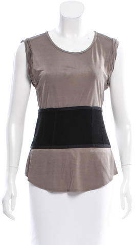 Alexander Wang Alexander Wang Sleeveless Belted Top