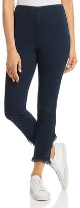 Lysse Cropped Frayed-Hem Legging Jeans in Indigo