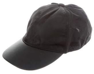 7fb94c4c476c49 Valentino Leather-Trimmed Camo Baseball Cap