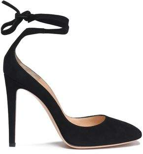 Gianvito Rossi Carla Lace-Up Suede Pumps