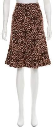 Diane von Furstenberg Ikat Print Rib Knit Skirt
