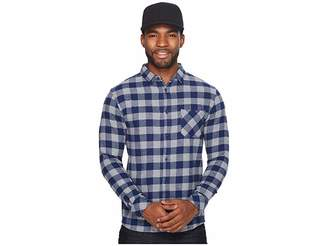 Quiksilver Motherfly Flannel Long Sleeve Shirt Men's Long Sleeve Button Up