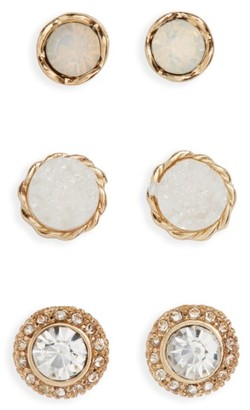 Women's Girly 3-Pack Crystal & Stone Earrings $14 thestylecure.com