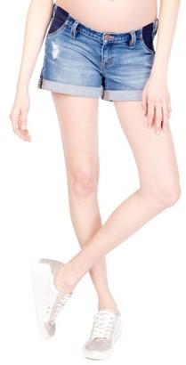 Women's Ingrid & Isabel Mia Maternity Boyfriend Shorts $68 thestylecure.com