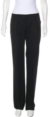 Saint Laurent Mid-Rise Wide-Leg Pants