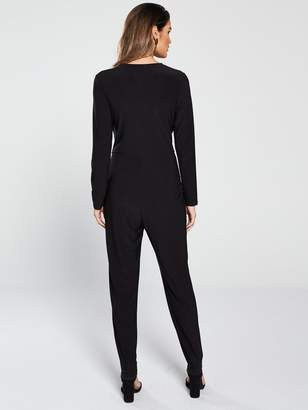 3b6854031fa Wallis Horn Ring Wrap Jumpsuit - Black