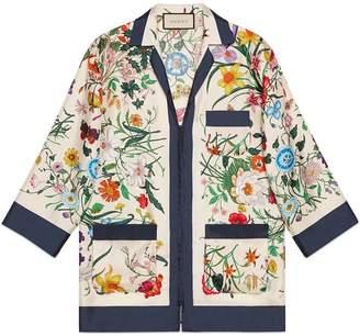 Gucci Flora silk twill shirt