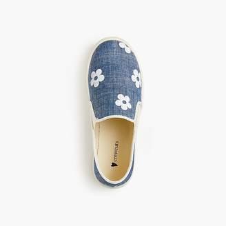 J.Crew Girls' daisy slip-on sneakers