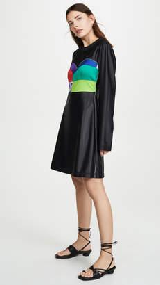 Ksenia Schnaider Long Sleeve Dress with Corset