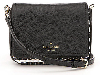 kate spade new york Cobble Hill Collection Abela Striped Raffia Cross-Body Bag $178 thestylecure.com