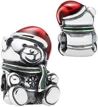 Pandora Christmas Bear Silver Enamel Charm