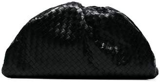 Bottega Veneta black Intrecciato-woven leather clutch bag