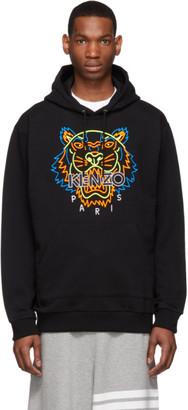 Kenzo Black Neon Tiger Hoodie