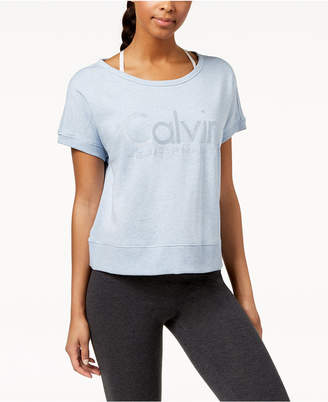 Calvin Klein Open-Back Cropped T-Shirt