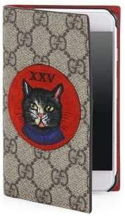 Gucci Embroidered Mystic Cat and XXV Suede Patch iPhone 7 Cover