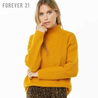 Forever 21 (フォーエバー 21) - Forever 21 タートルネックブラッシュリブセーター