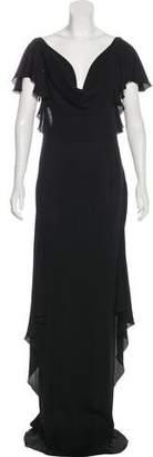 Valentino Cowl Neck Maxi Dress