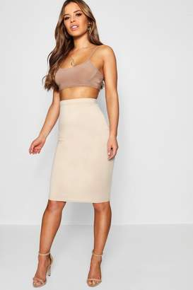 boohoo Petite Basic Ponte Bodycon Midi Skirt