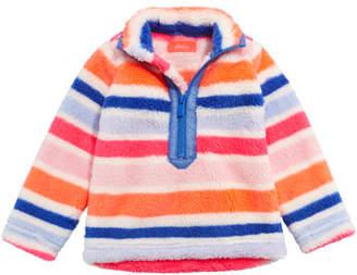 Joules Merridie Multi-Stripe Half Zip Fleece Pullover, Size 2-6