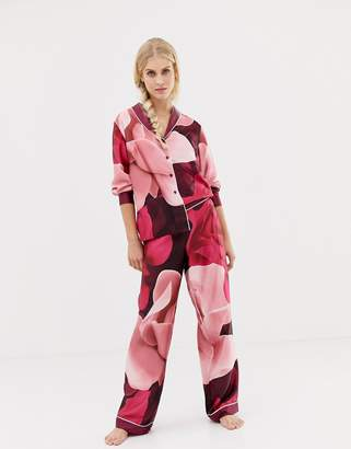 Ted Baker Porcelain Rose Printed Pajama Bottom