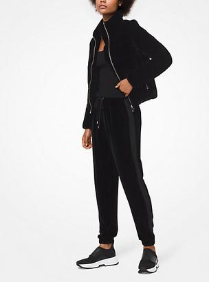 Michael Kors Velvet Puffer Jacket