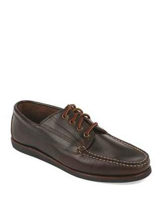 Eastland Falmouth USA Leather Lace-Up Moccasin, Dark Olive