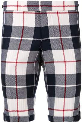 Thom Browne Buffalo Tartan Skinny Wool Short