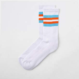 River Island White stripe trim tube socks
