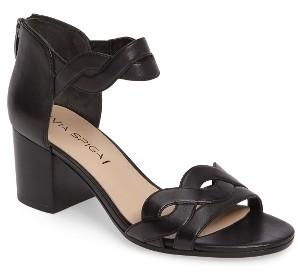 Women's Via Spiga Janel Block Heel Sandal $195 thestylecure.com