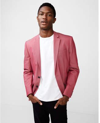 Express slim red stretch blazer